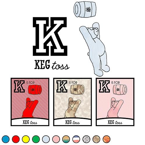 K is for Keg Toss