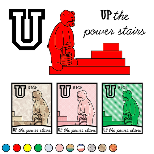 U is for Up the power stairs