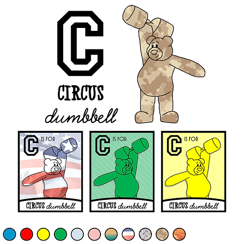 C is for Circus Dumbbell
