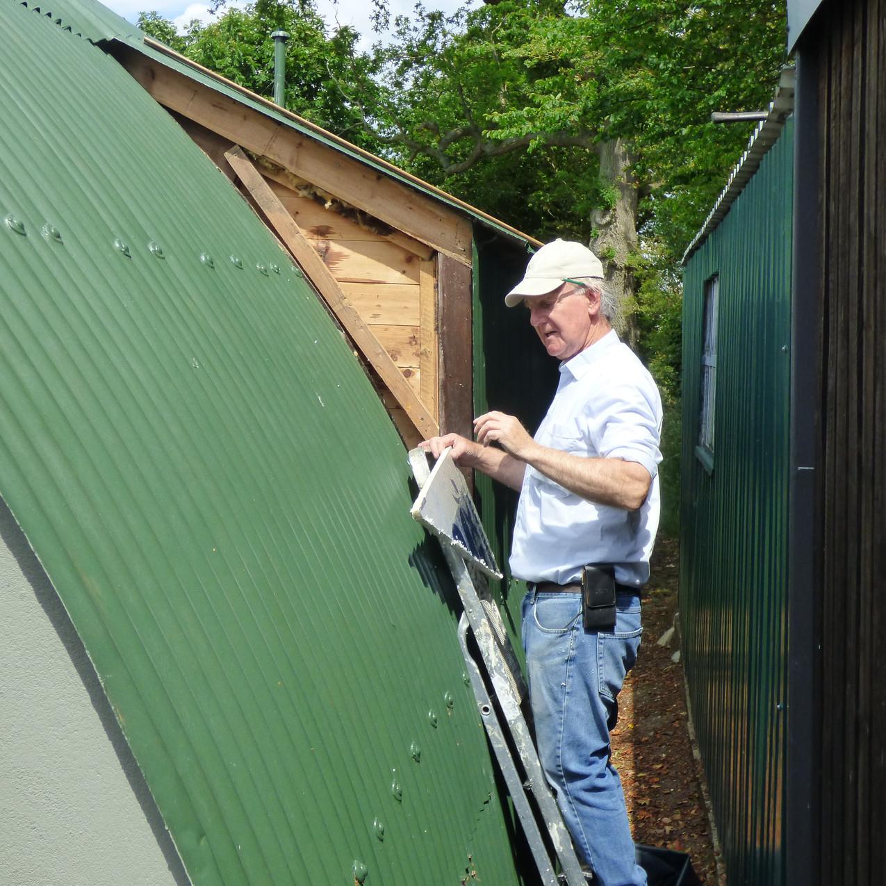 David repairing the Varian Centre