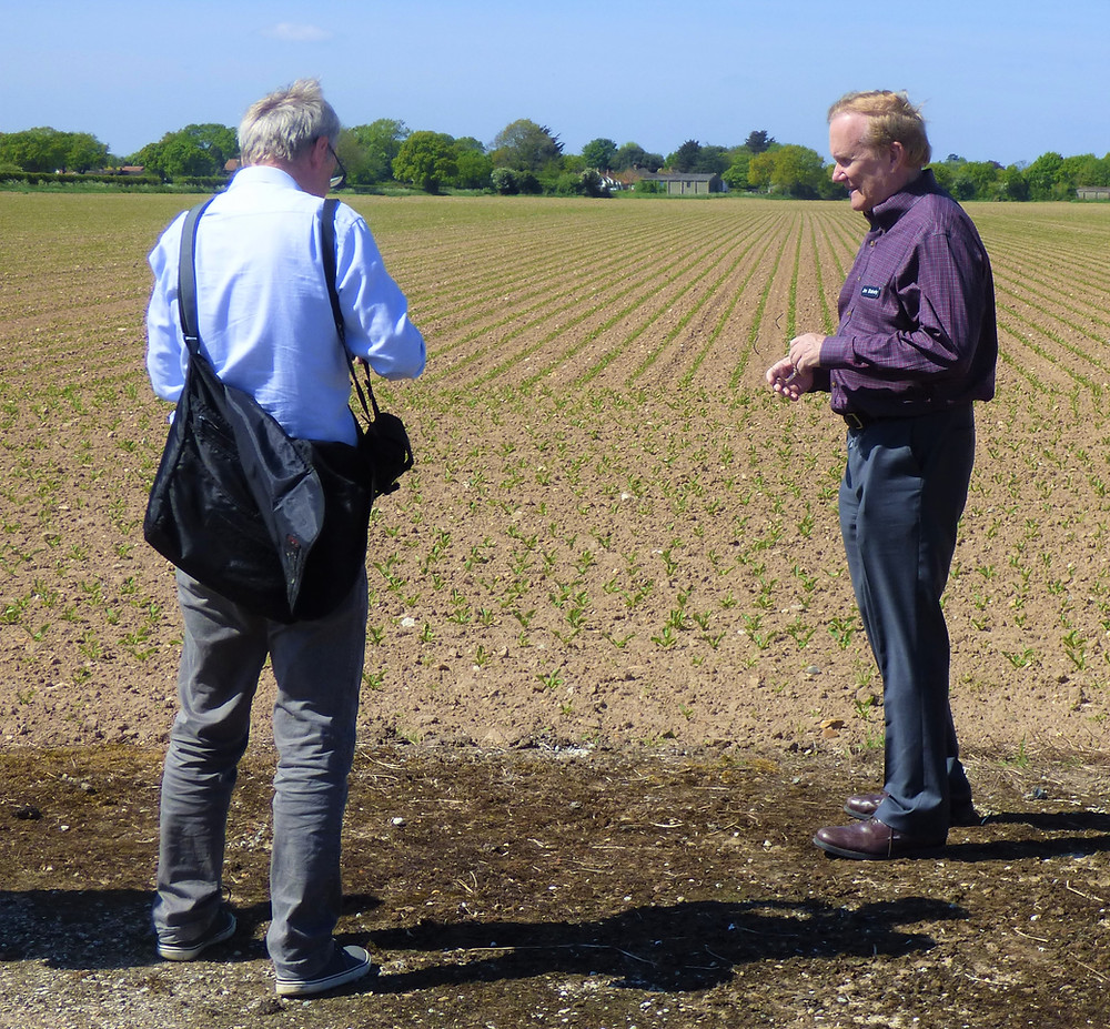 Steve Snelling interviewing Jim on Ludham airfield