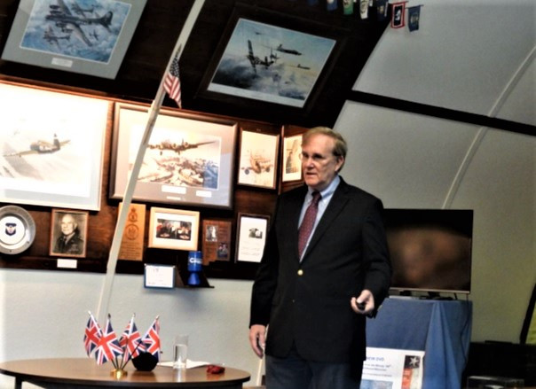 Jim Blakely giving his presentation at the 100th Bomb Group Memorial Museum