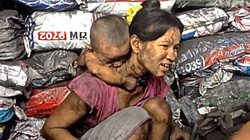 Charcoal factory ranong Mother & child - 155