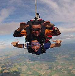 Jason Ng, Course Director from The Dive Ship, takes a dive - out of a plane!