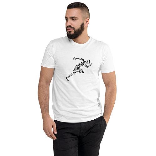 White Aiga Running Man Shirt