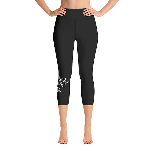Aiga Capri Leggings w/ Running Man on Calf