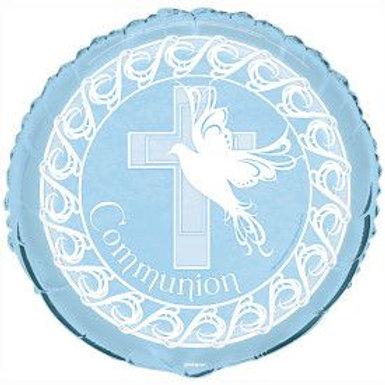 """Balloon Foil 18"""" Communion Blue"""