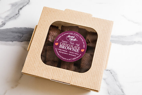 24 bite-size Chocolate Brownies in eco box