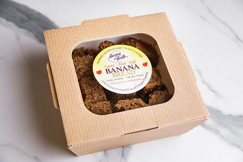 24 bite-size Banana Bread pieces in eco box