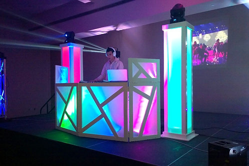 DJ Booth - with Colored Acrylic Back lit