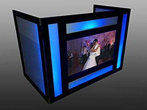 DJ Booth - Wooden Paint finish with Acrylic Baclit with 55'' LED Screen