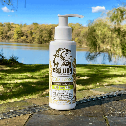 CBD Lion 300 mg  Pain Cream lotion unscented