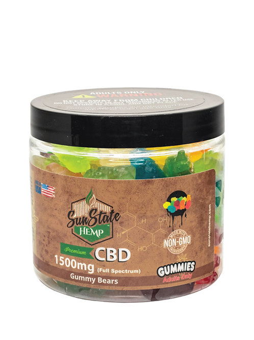 Sun State Hemp Full Spectrum 1500 mg  Gummies