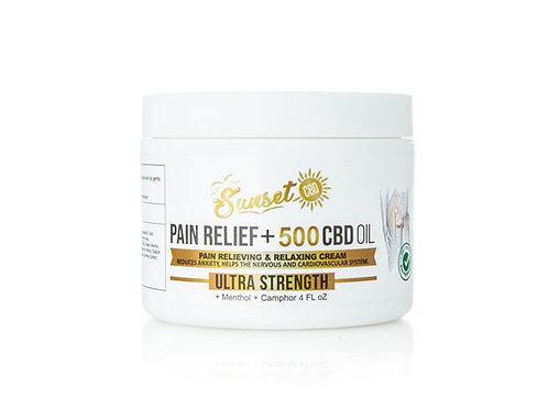 Sunset CBD 500 mg Pain Cream
