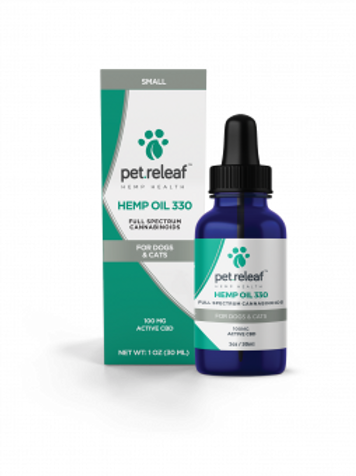 Pet Releaf Hemp 330 mg (100mg active cbd)