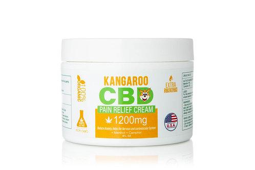 Kangaroo 1200 mg CBD pain Cream w/Menthol & Comfrey