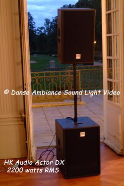 HK Audio Actor DX 2200 watts rms