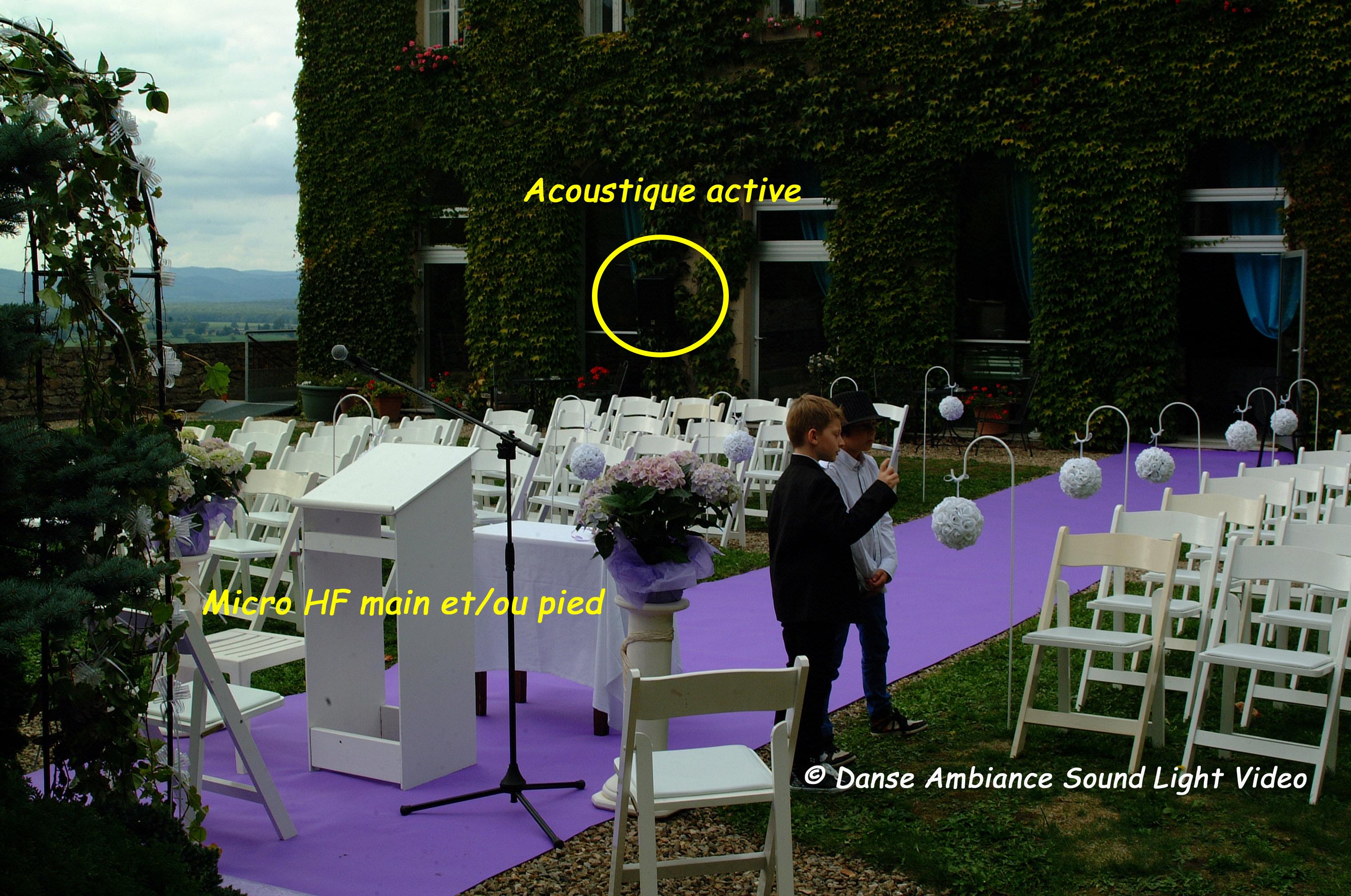 Sonorisation de la cérémonie laïque