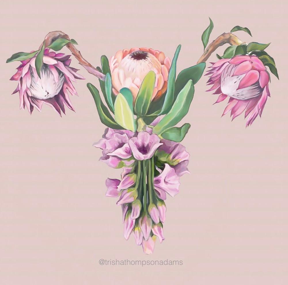 @trishathompsonadams flowers ovaries uterus
