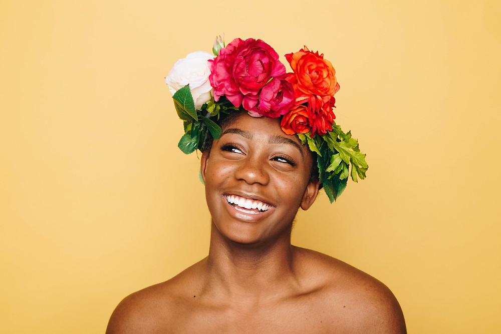 girl flowering