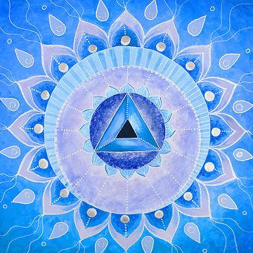 abstract blue painted picture mandala of Vishuddha chakra.jpg