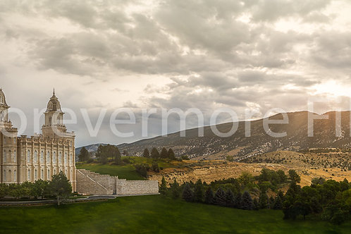 Manti Temple Photo Print 40x14""