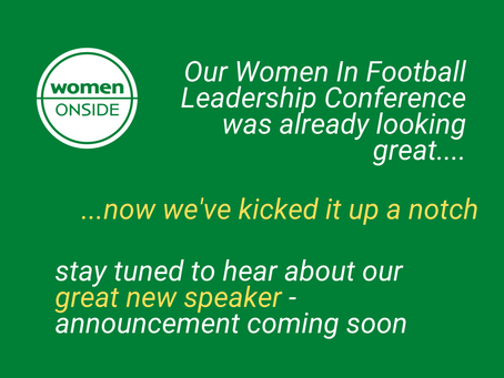 Women in football leadership conference update