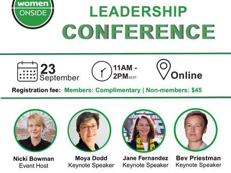 Women in football leadership conference - online 23 September