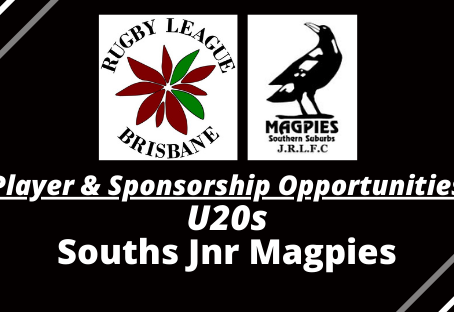 U20s PLAYER & SPONSORSHIP OPPORTUNITIES - Souths Jnr Magpies
