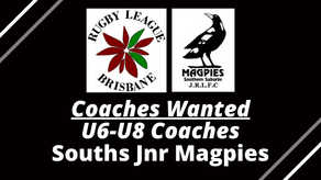U6-U8 COACHES WANTED - Souths Jnr Magpies