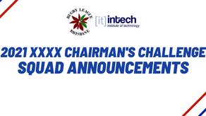 2021 XXXX Chairmain's Challenge Squad Announced