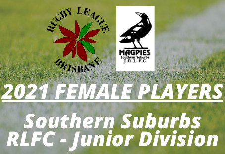 2021 Female Players - Southern Suburbs JRLFC