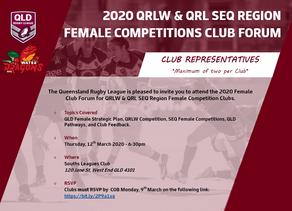 2020 SEQ Female Forum