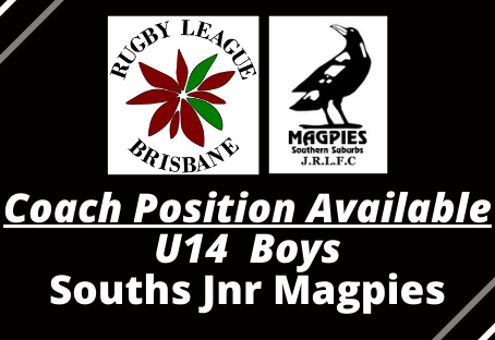 COACH POSITION AVAILABLE - Souths Jnr Magpies