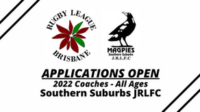 Applications Open - 2022 Coaches - Southern Suburbs JRLFC