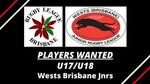 PLAYERS WANTED - U17/U18s - Wests Brisbane Jnrs