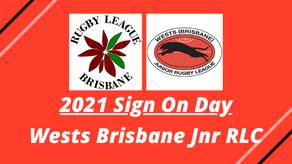 Sign On Day - Wests Brisbane Jnr RLC