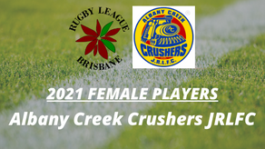 Female Players Wanted: Albany Creek Crusher JRLFC