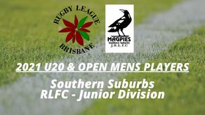 2021 U20s & OPEN MENS - Southern Suburbs JRLFC