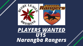 PLAYERS WANTED - U15 - Narangba Rangers