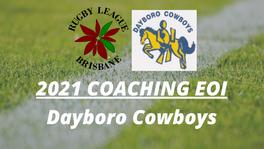 Expression of Interest - 2021 Senior Coach - Dayboro Cowboys
