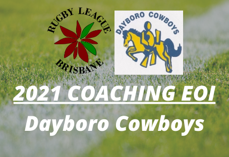 Expression of Interest - 2021 Senior Coach - Dayboro Cowboys