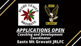 Easts Mt Gravatt - Coaching and Development Coordinator position