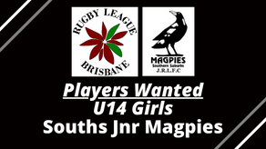 U13/U14 GIRLS WANTED - Souths Jnr Magpies