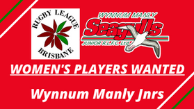 Women's Players Wanted: Wynnum Manly Jnrs