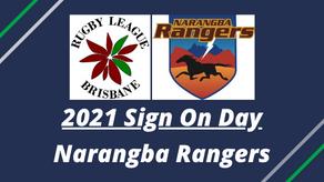 2021 Sign On Day - Narangba Rangers