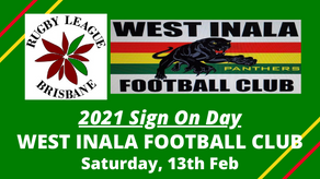 SIGN ON DAY - West Inala Panthers