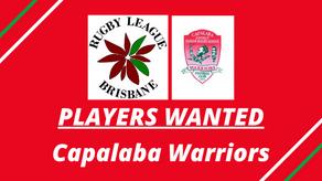 PLAYERS WANTED - Capalaba Warriors