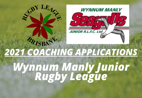 2021 Coaching Applications - Wynnum Manly Junior RL