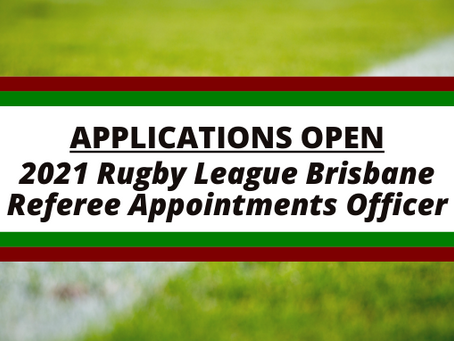 Applications Open: RLB Referee Appointments Officer